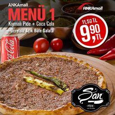 #ANKAmall açılışa özel haftanın yıldızı Şan Pide&Tantuni...  Kıymalı Pide + Coca Cola = 9.90₺