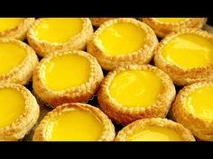 How to Make Chinese Egg Tarts 港式酥皮蛋撻 Flaky Puff Pastry Egg Tarts & Soft Egg Custard Tart Recipe - YouTube