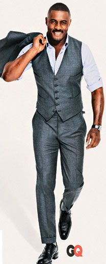 Cuz every girl's crazy about a sharp dressed man & Idris...double whammy