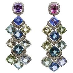 1stdibs - Elegant Multi-Color Sapphire & Diamond Earclips explore items from 1,700  global dealers at 1stdibs.com