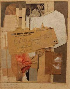 C 50 Letzte Vogel und Blumen (Last Birds and Flowers), 1946Collage on paper laid down on card17.1 x 14.2 cm