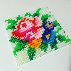 Flower coaster hama beads by maschahaakt