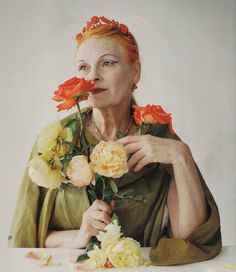 Vivienne Westwood; the inventor and Queen of Punk Fashion. (Yes, Richard Hell 1st used safety pins on his clothing from necessity, but Westwood took the punk aesthetic and RAN with it- to this day).