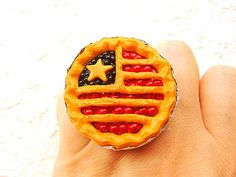 Fruit Pie Ring Kawaii Food Jewelry by SouZouCreations on Etsy