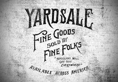 Haggling Will Get You Everywhere  Folksy is Fantastic!     Yardsale - Jon Contino, Alphastructaesthetitologist