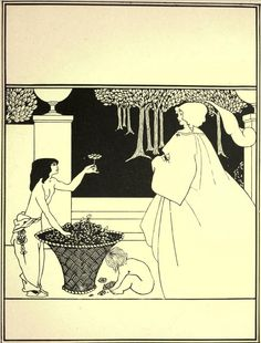 """Illustration by Aubrey Beardsley (1872-1898), ca. 1895, Cover design for """"The Yellow Book"""", vol.4. iL"""