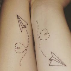 28 Sister Tattoos - Soaring through life together.