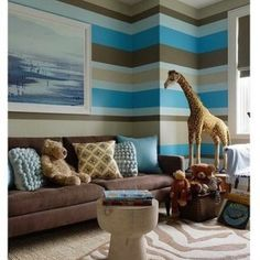 Baby boys room ... Love the stripe colors