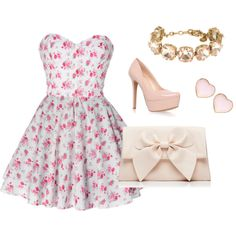 """""""Spring dress outfit"""" by anamariameciu on Polyvore"""