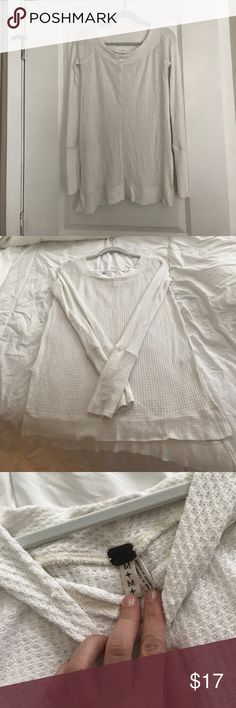Free People Kate Thermal Knit Long Sleeve Cream Knit Top. Great Condition. No Flaws. Free People Tops Tunics