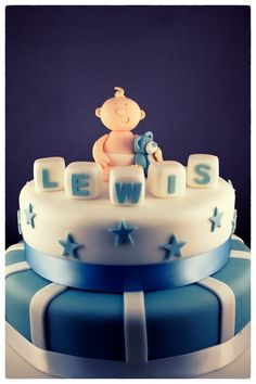 Christening Cake - Boy by Andrea Hillman, via Behance