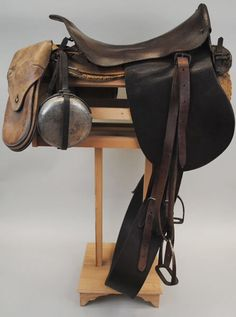 English army saddle ca., 1899-1918