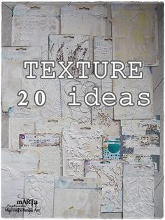 all about texture 20 ideas mixed media art tutorial maremis small art is part of Mixed media art tutorials - All about TEXTURE 20 ideas Mixed Media Art Tutorial (Maremi's Small Art) MixedMedia artIdeas Mixed Media Techniques, Mixed Media Tutorials, Art Techniques, Art Tutorials, Mixed Media Collage, Mixed Media Canvas, Mixed Media Journal, Mixed Media Painting, Mixed Media Artwork