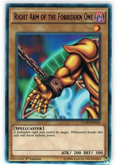 Yu-Gi-Oh! - Right Arm of The Forbidden One - Dark Legends - Unlimited Edition - Common Yu Gi Oh, Obelisk The Tormentor, Dark Legends, Roulette, Yugioh Monsters, Spiderman Movie, Monster Cards, Original Pokemon, Creepypasta Proxy