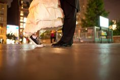 How adorable is this bride's Converse surprise?