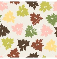 Seamless pattern with stylized autumn leaves vector by incomible on VectorStock®