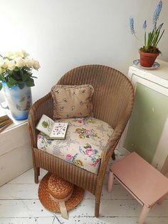 Vintage Lloyd Loom chair original paintwork & label. by EmmaAtLHV