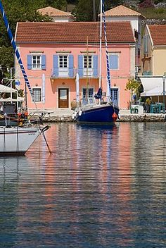 size: Photographic Print: Fiscardo Harbour, Kefalonia Poster by Mark Banks : Artists Most Beautiful Beaches, Beautiful Places, Mykonos Island, Holiday Places, Greece Islands, Thessaloniki, Greece Travel, Beautiful Islands, Landscape Photos
