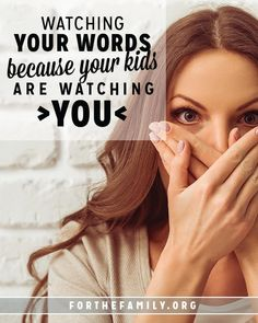Have you ever heard your children mimic your tone of voice negatively? Sometimes, it can be a wake up call! If you're struggling with words today, we have hope, encouragement and a challenge to support you. It's important, because, as we all know, our little ones are watching...