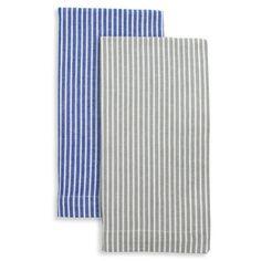 Sur La Table Striped Shirt Napkins Set Of 4