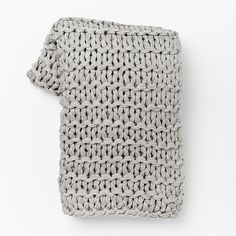 West Elm Chain Lock Throw ($69) ❤ liked on Polyvore featuring home, bed & bath, bedding, blankets, acrylic throw, knit throw, knit throw blanket, bright colored bedding and knit blanket