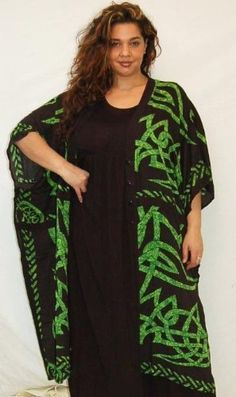 BLACK GREEN BATIK TOP JACKET - FITS (ONE SIZE) - M L XL 1X 2X 3X 4X 5X - A285S LOTUSTRADERS LOTUSTRADERS. $48.99