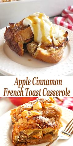 This Apple Cinnamon French Toast Casserole Is The Perfect Holiday ; - Tara Johnson - This Apple Cinnamon French Toast Casserole Is The Perfect Holiday ; This Apple Cinnamon French Toast Casserole Is The Perfect Holiday ; Cinnamon French Toast Bake, Cinnamon Apples, Texas French Toast Recipe, Crockpot French Toast, Challah French Toast, Eggnog French Toast, Banana French Toast, Ground Cinnamon, Delicious Breakfast Recipes