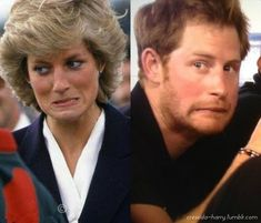 Princess Diana & Prince Harry! They have so many matching faces. He really is his mother's son!! <3