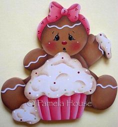 Messy Cupcake Gingerbread Girl