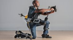 US Navy tests power-free industrial exoskeletons - Exoskeletons enable workers to operate heavyweight hand tools for longer by transferring the weight of the items from the body directly the ground.