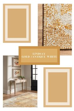 "Magnolia Home by Joanna Gaines ""Lindsay - Gold / Antique White"" available at NW Rugs! #magnoliahome #rugs #loveofrugs Magnolia Home Rugs, Magnolia Homes, Farmhouse Chic, Joanna Gaines, Rugs Online, Antiques, Gold, Design, Antiquities"