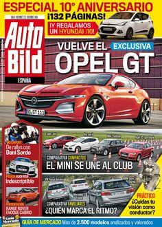 Revista #Autobild 494, #noviembre. Vuelve el #Opel GT. El #Mini se une al club. De #rally con #DaniSordo, #Audi RS6, presentación del Range Rover Cabrio...