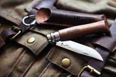 Explorer Series {Opinel + custom leather sheath}