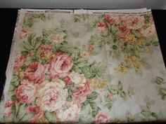 Western Textile Fabric Material 56 X 96 Floral Pattern Shabby Chic Upholstery