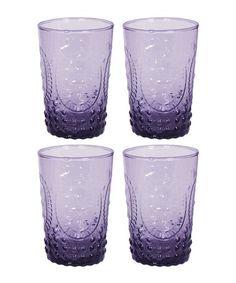 Look at this #zulilyfind! Amethyst Renaissance 8-Oz. Juice Glass - Set of Four #zulilyfinds