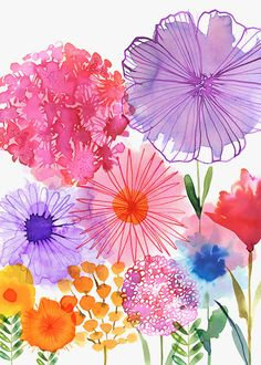 Margaret Berg : watercolor florals