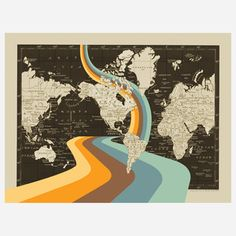 All Who Wander Map 18x24, $59, now featured on Fab.
