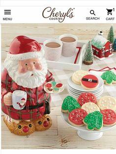 Santa Cookies, Gingerbread Cookies, National Cookie Day, Cut Out Cookies, Buttercream Frosting, Cookie Jars, Bedtime, Reindeer, Custom Design