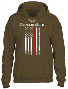 free since 1776 american patriot 1 HOODIE