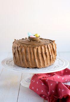 Tarta para Pascua de chocolate y caramelo Chocolate Easter Cake, Chocolate Caramel Cake, Cheesecakes, Cupcake Cakes, Cupcakes, Birthdays, Favorite Recipes, Relleno, Cooking