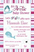 Arctic Baby Shower Invitations - Penguin, Whale, Polar Bear Babies Splash