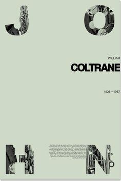 John Coltrane jazz poster designed by Vladimir Zholud