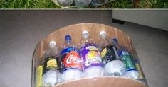 Make an Ottoman By Recycling Plastic Bottle Such an ottoman can be really comfortable and practical. You need a few plastic bottles...