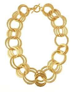 Oval-Link Necklace by Kenneth Jay Lane at Last Call by Neiman Marcus.