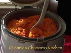 Red Rice is a must-have for any Chamorro Fiesta menu.  Without red rice, it just won't seem much like a fiesta. You don't need to go to a party or fiesta to enjoy this Chamorro staple. … Chamorro Red Rice Recipe, Red Rice Recipe Guam, Raw Rice Recipe, Red Rice Recipe Mexican, Rice Dumplings Recipe, Red Beans And Rice Recipe Easy, Chamorro Food, Chamorro Recipes, Guamanian Red Rice Recipe