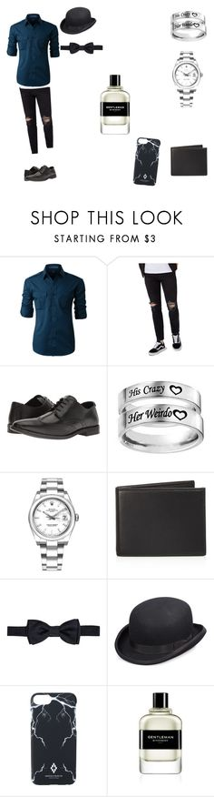 """Untitled #3"" by gufhguhvuhdguhuh ❤ liked on Polyvore featuring LE3NO, Topman, Steve Madden, Rolex, The Men's Store, Salvatore Ferragamo, Scala, Marcelo Burlon, Givenchy and men's fashion"