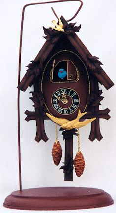 Cuckoo Clock made from a real egg as well.