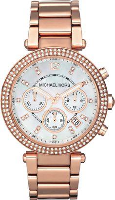 Michael Kors Damen-Armbanduhr Chronograph Quarz Edelstahl beschichtet MK5491: Amazon.de: Uhren