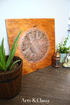 I am very excited to be sharing this project with you today. 2020 has been a big year for DIY art in my home and I am thrilled that I was able to create the project I am sharing with you today. I have been a fan of DIY Mandala art for some time now and wanted to create something beautiful that would match with my apartment decor.