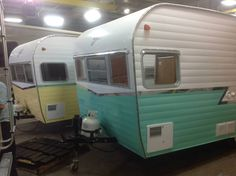 The new re- issue 1961 Shasta Airflyte's!   They look AWESOME!!! LOVE the colors!